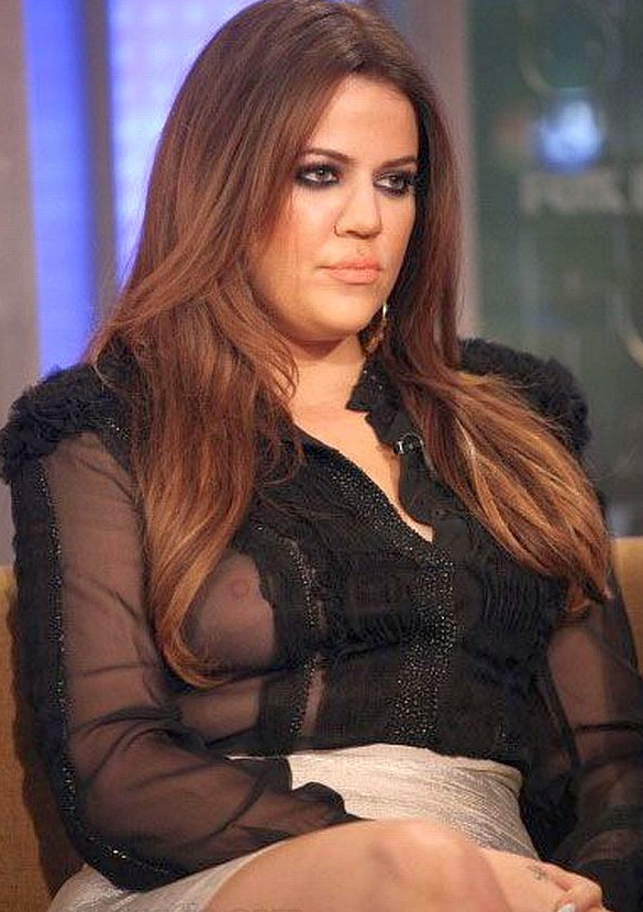 Khloe kardashian lamar odom s wife nip slip on fox news and friends